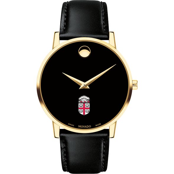 Brown University Men's Movado Gold Museum Classic Leather - Image 2