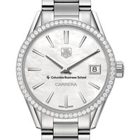Columbia Business Women's TAG Heuer Steel Carrera with MOP Dial & Diamond Bezel