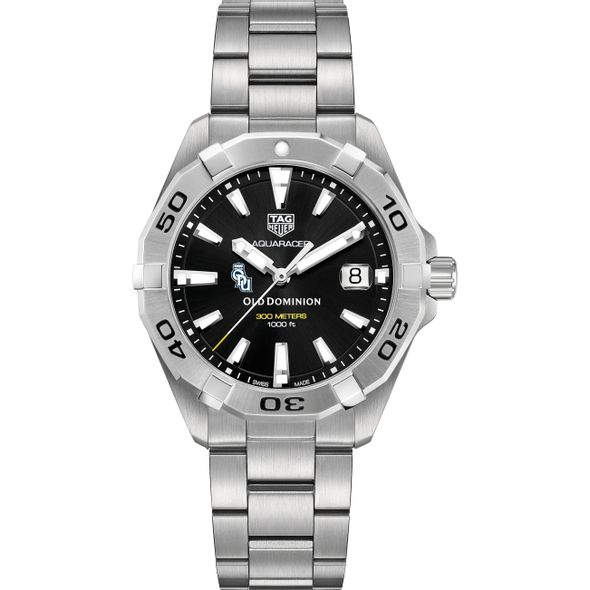 Old Dominion Men's TAG Heuer Steel Aquaracer with Black Dial - Image 2