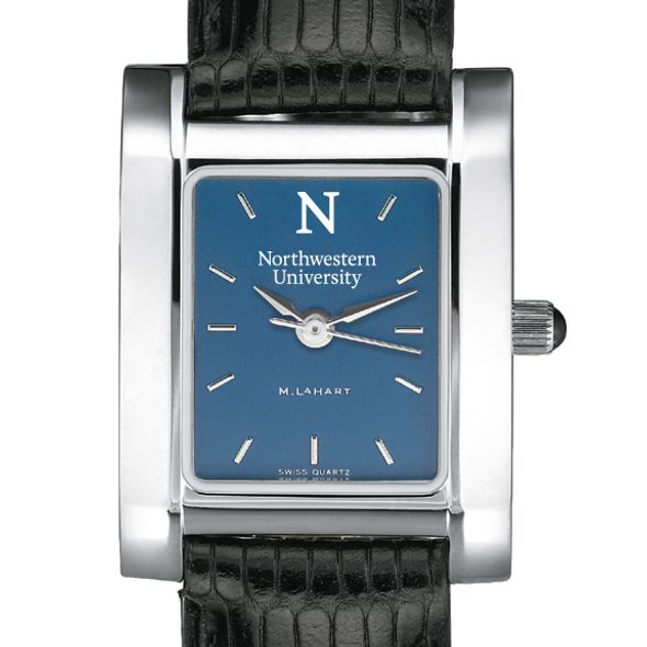 Northwestern Women's Blue Quad Watch with Leather Strap