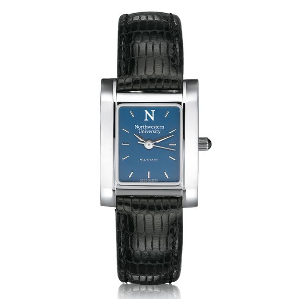 Northwestern Women's Blue Quad Watch with Leather Strap - Image 2