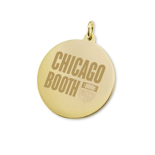 Chicago Booth 14K Gold Charm