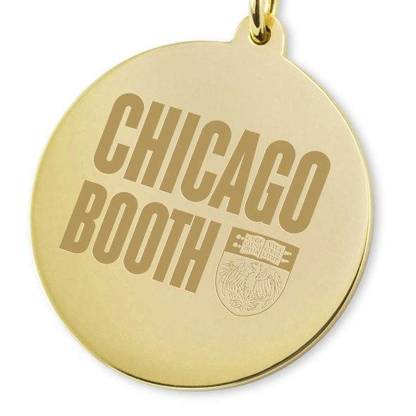 Chicago Booth 14K Gold Charm - Image 2
