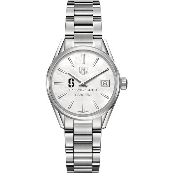 Stanford University Women's TAG Heuer Steel Carrera with MOP Dial - Image 2