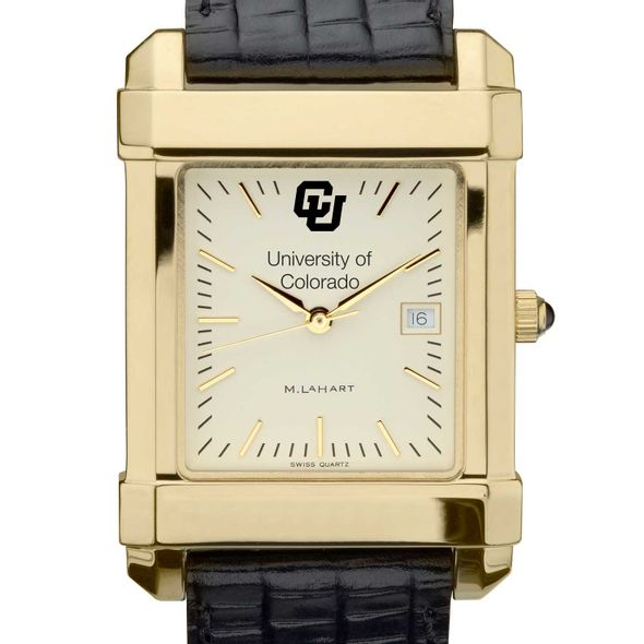 Colorado Men's Gold Quad with Leather Strap - Image 1