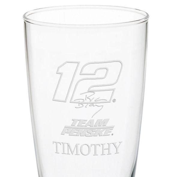 Ryan Blaney 20oz Pilsner Glass - Image 3
