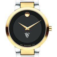 WashU Men's Movado Two-Tone Modern Classic Museum with Bracelet