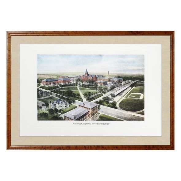 Historic Georgia Tech Watercolor Print - Image 1