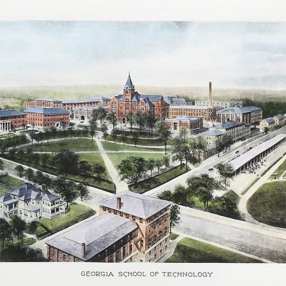 Historic Georgia Tech Watercolor Print - Image 2