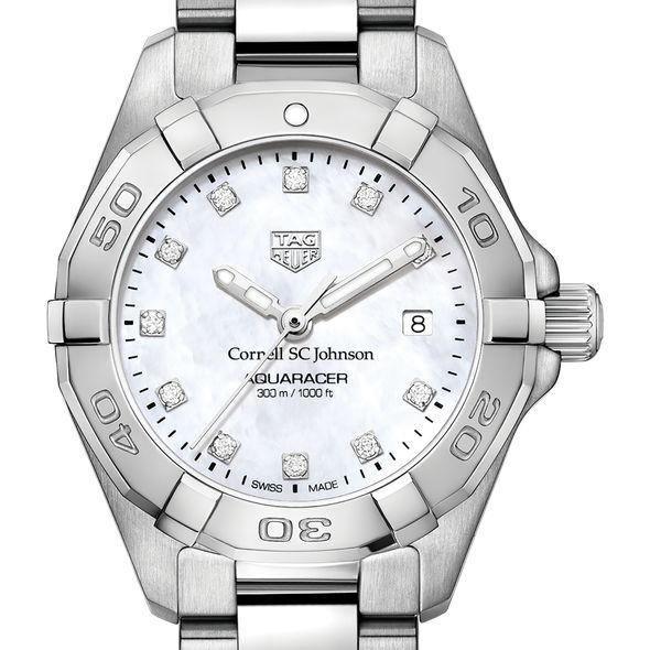 SC Johnson College Women's TAG Heuer Steel Aquaracer with MOP Diamond Dial