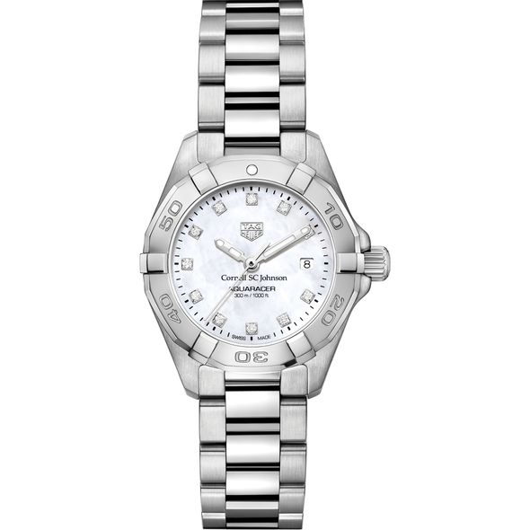 SC Johnson College Women's TAG Heuer Steel Aquaracer with MOP Diamond Dial - Image 2