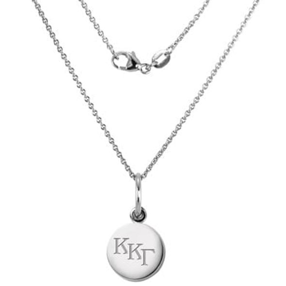 Kappa Kappa Gamma Sterling Silver Necklace with Silver Charm
