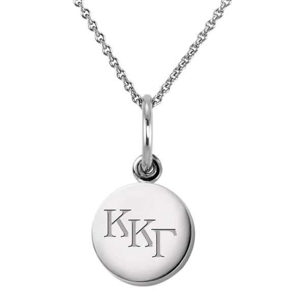 Kappa Kappa Gamma Sterling Silver Necklace with Silver Charm - Image 2