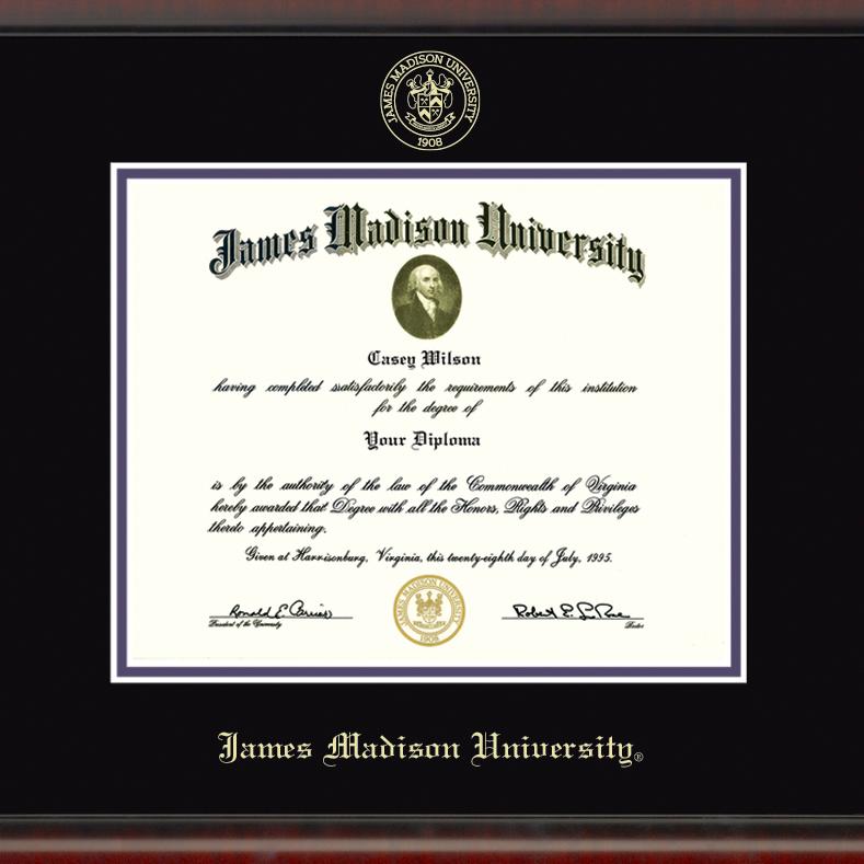 James Madison University Diploma Frame, the Fidelitas - Image 2