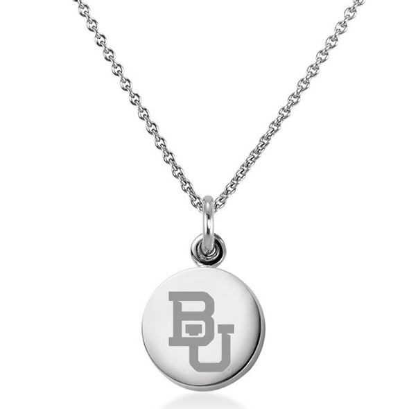 Baylor University Necklace with Charm in Sterling Silver