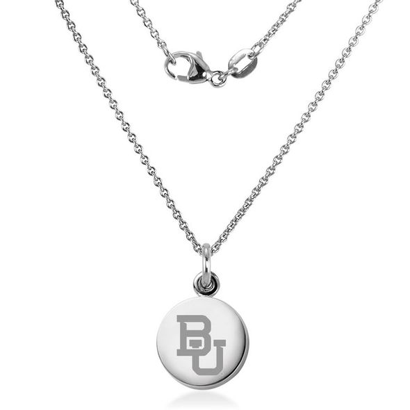 Baylor University Necklace with Charm in Sterling Silver - Image 2