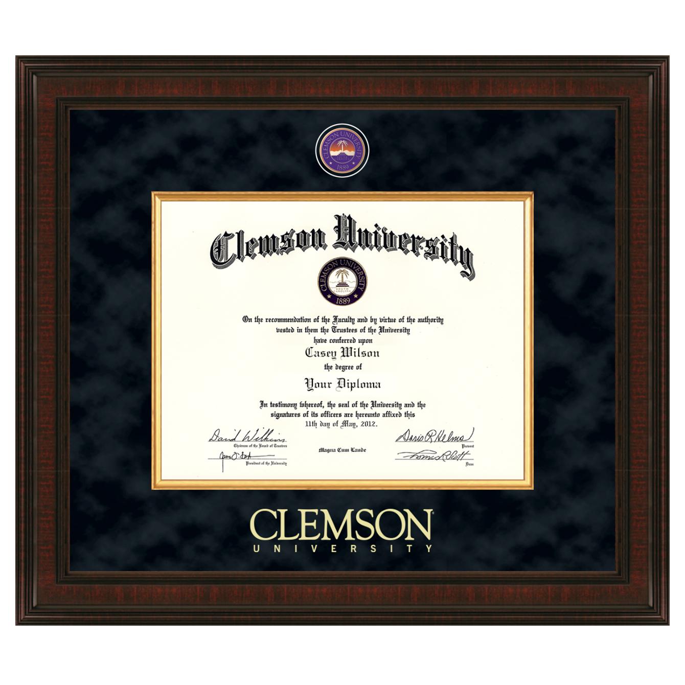 Clemson Excelsior Diploma Frame