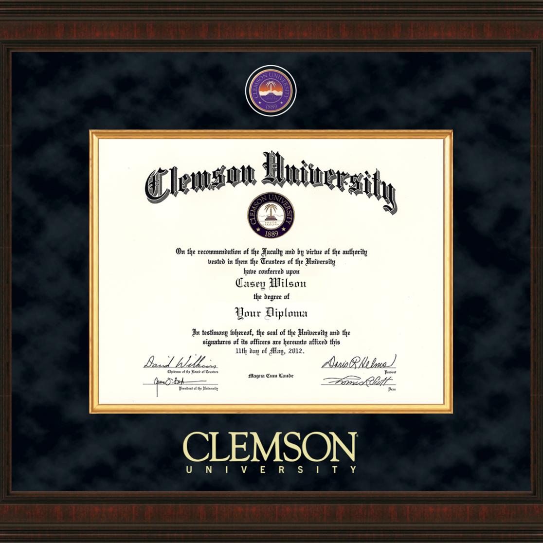 Clemson Excelsior Diploma Frame - Image 2