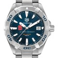 North Carolina State Men's TAG Heuer Steel Aquaracer with Blue Dial - Image 1