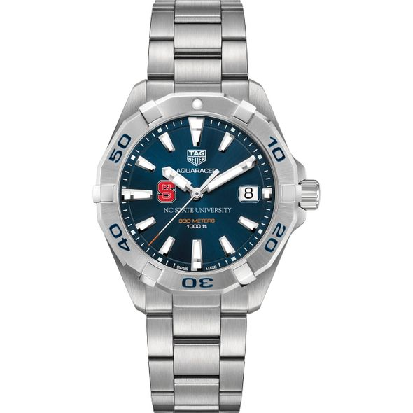 North Carolina State Men's TAG Heuer Steel Aquaracer with Blue Dial - Image 2