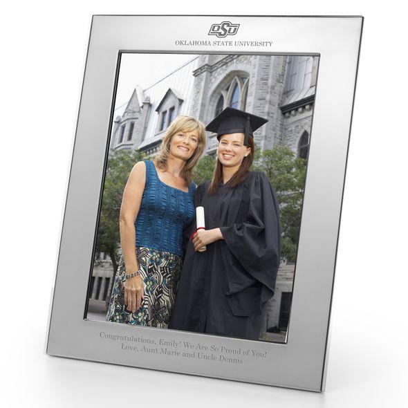 Oklahoma State University Polished Pewter 8x10 Picture Frame - Image 1