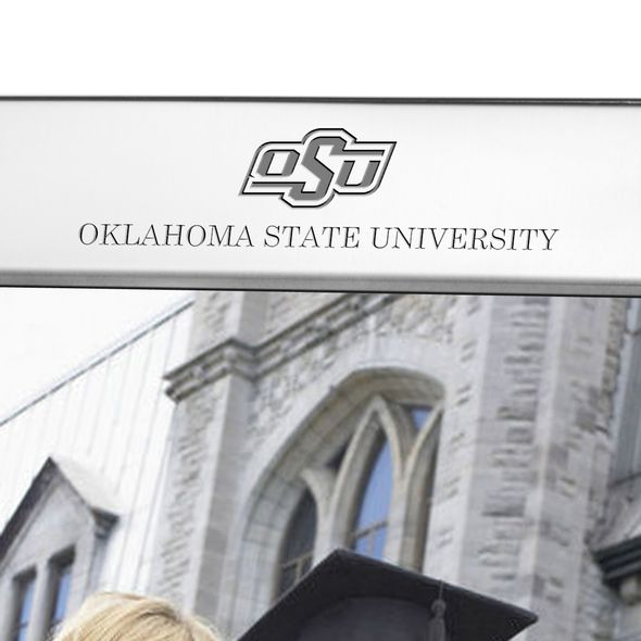 Oklahoma State University Polished Pewter 8x10 Picture Frame - Image 2
