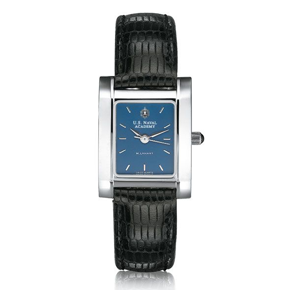 USNA Women's Blue Quad Watch with Leather Strap - Image 2