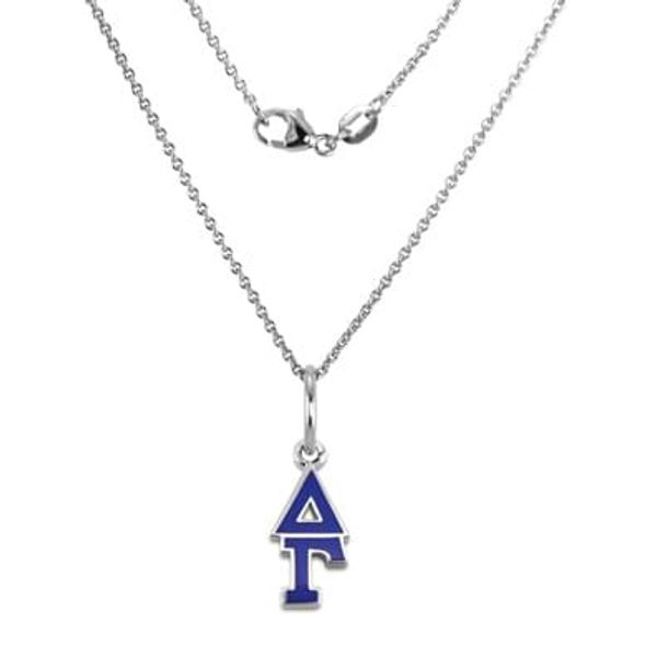 Delta Gamma Sterling Silver Necklace with Greek Letter Charm - Image 1
