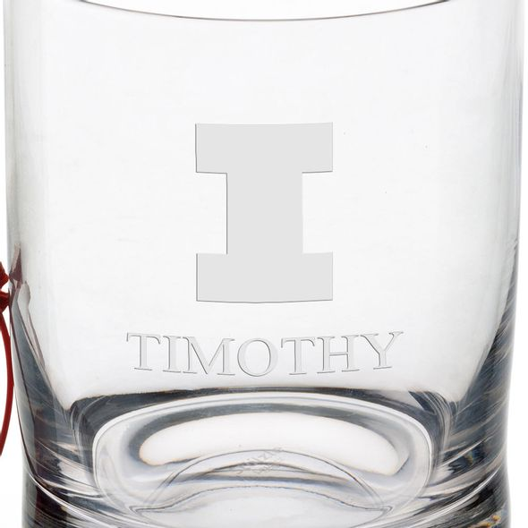 University of Illinois Tumbler Glasses - Set of 4 - Image 3