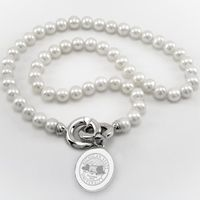 Michigan State Pearl Necklace with Sterling Silver Charm