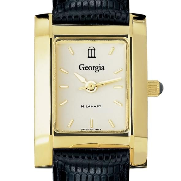 Georgia Women's Gold Quad with Leather Strap