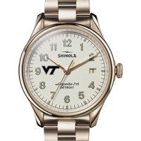 Virginia Tech Shinola Watch, The Vinton 38mm Ivory Dial