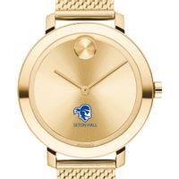 Seton Hall Women's Movado Bold Gold with Mesh Bracelet