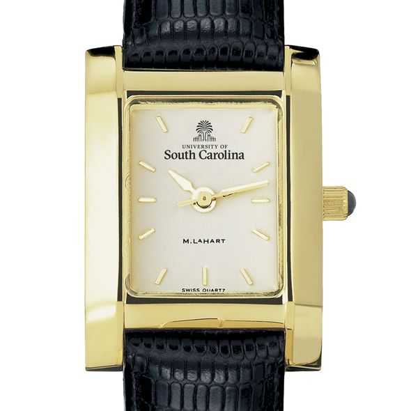 South Carolina Women's Gold Quad with Leather Strap