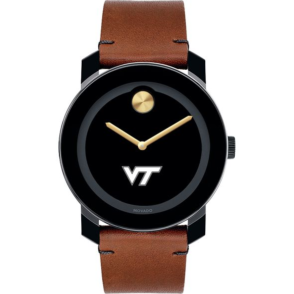 Virginia Tech Men's Movado BOLD with Brown Leather Strap - Image 2