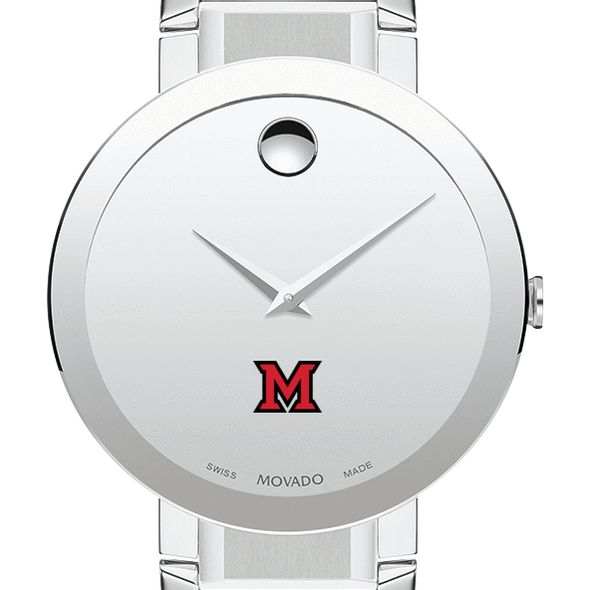Miami University Men's Movado Sapphire Museum with Bracelet