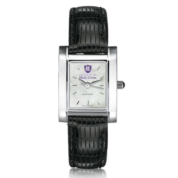 Holy Cross Women's Mother of Pearl Quad Watch Leather Strap - Image 2