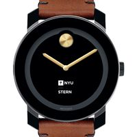 NYU Stern Men's Movado BOLD with Brown Leather Strap