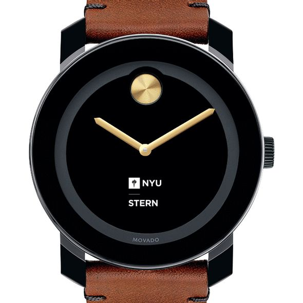 NYU Stern Men's Movado BOLD with Brown Leather Strap - Image 1