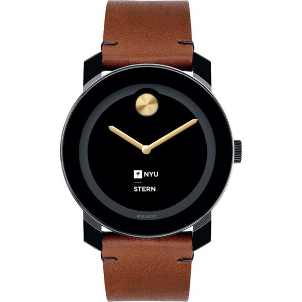 NYU Stern Men's Movado BOLD with Brown Leather Strap - Image 2