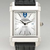 Yale SOM Men's Collegiate Watch with Leather Strap