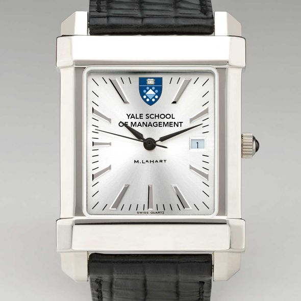 Yale SOM Men's Collegiate Watch with Leather Strap - Image 1