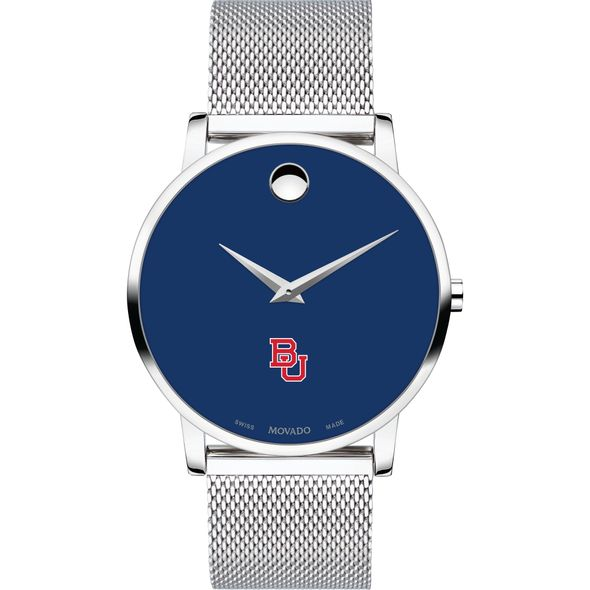 Boston University Men's Movado Museum with Blue Dial & Mesh Bracelet - Image 2
