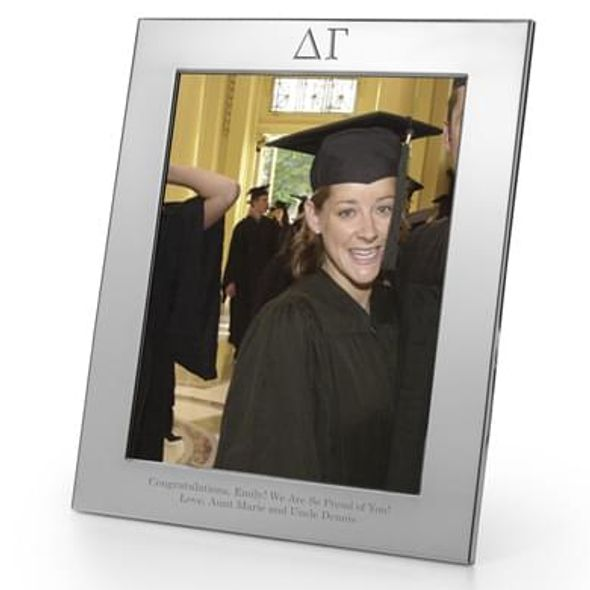Delta Gamma Polished Pewter 8x10 Picture Frame - Image 1