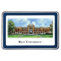 Rice University Eglomise Paperweight