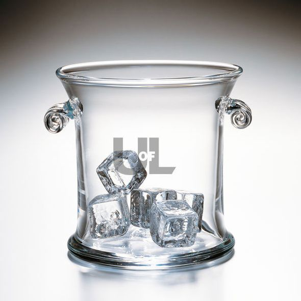University of Louisville Glass Ice Bucket by Simon Pearce