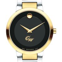 George Washington University Men's Movado Two-Tone Modern Classic Museum with Bracelet