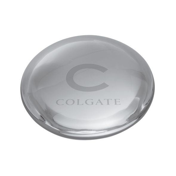 Colgate Glass Dome Paperweight by Simon Pearce