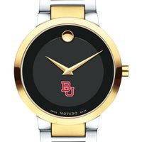 Boston University Men's Movado Two-Tone Modern Classic Museum with Bracelet