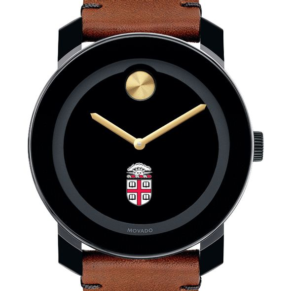 Brown Men's Movado BOLD with Brown Leather Strap
